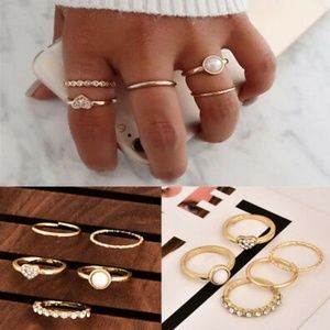 🌼 Just In 🌼 5 Piece Golden Ring Set
